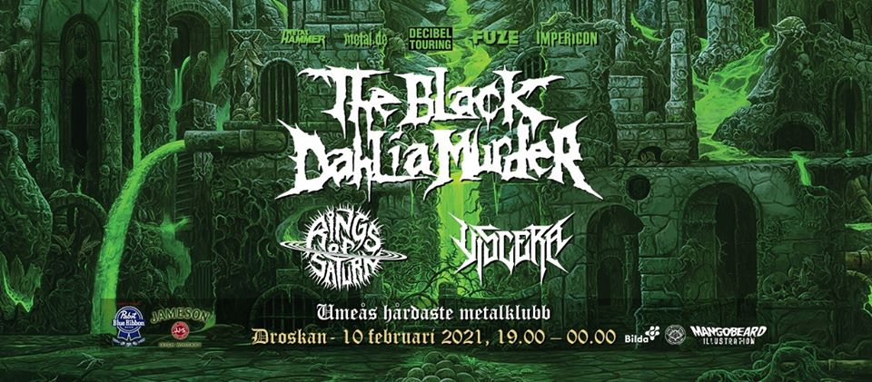 THE BLACK DAHLIA MURDER (USA) w/ support Rings of Saturn + Viscera